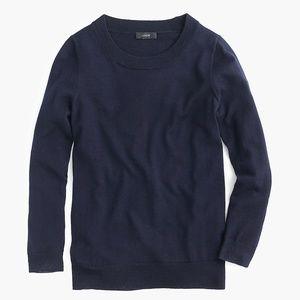 J Crew Tippi Sweater in Navy Merino Wool XXL NWT